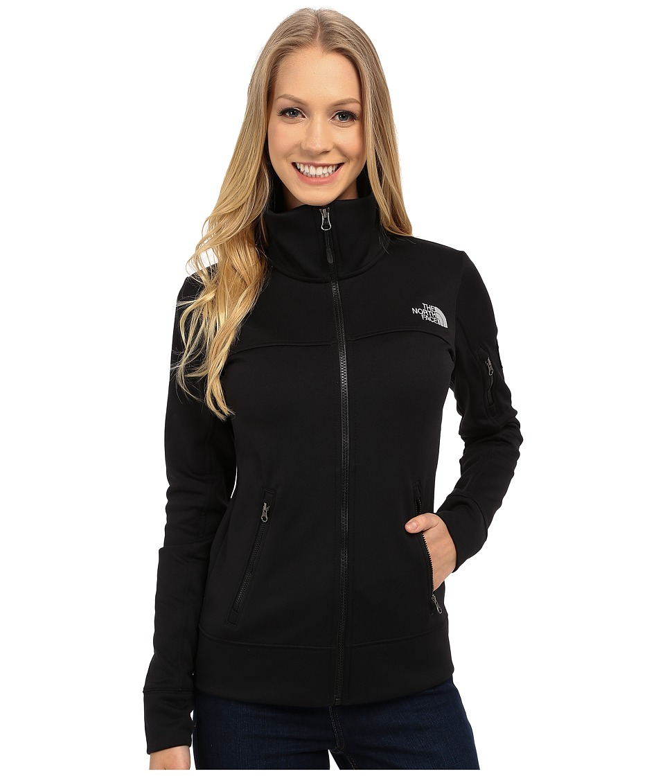 The North Face - Mayzie Full Zip Fleece Jacket (Asphalt Grey Heather/TNF Black) Women's Jacket