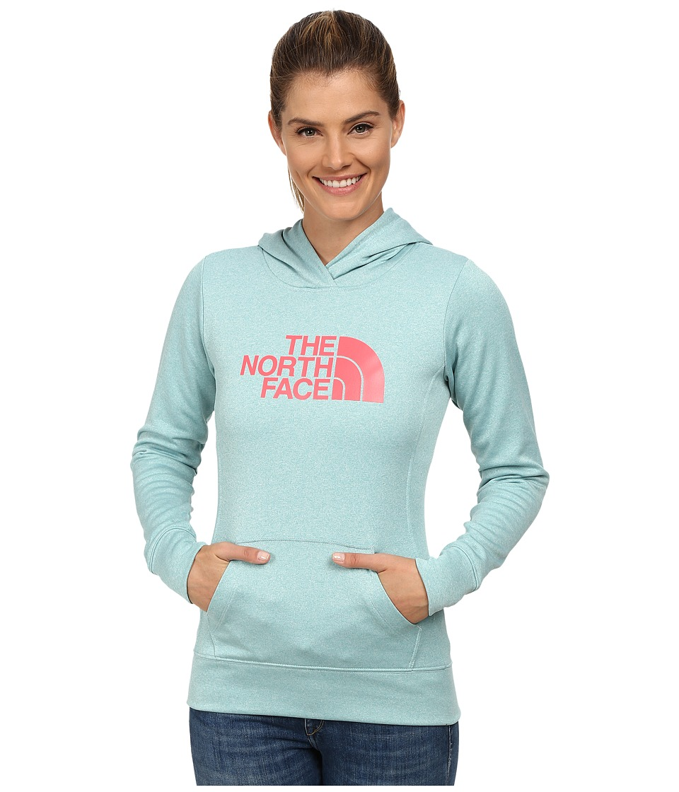 The North Face - Fave Pullover Hoodie (Tourmaline Blue Heather/Snowcone Red) Women