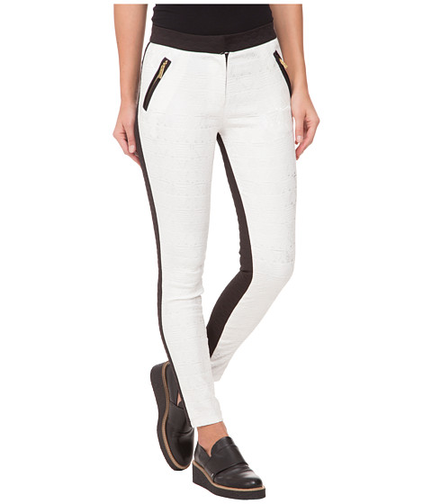 Whitney Eve - Flamingo Lily Pants (White/Black) Women's Casual Pants