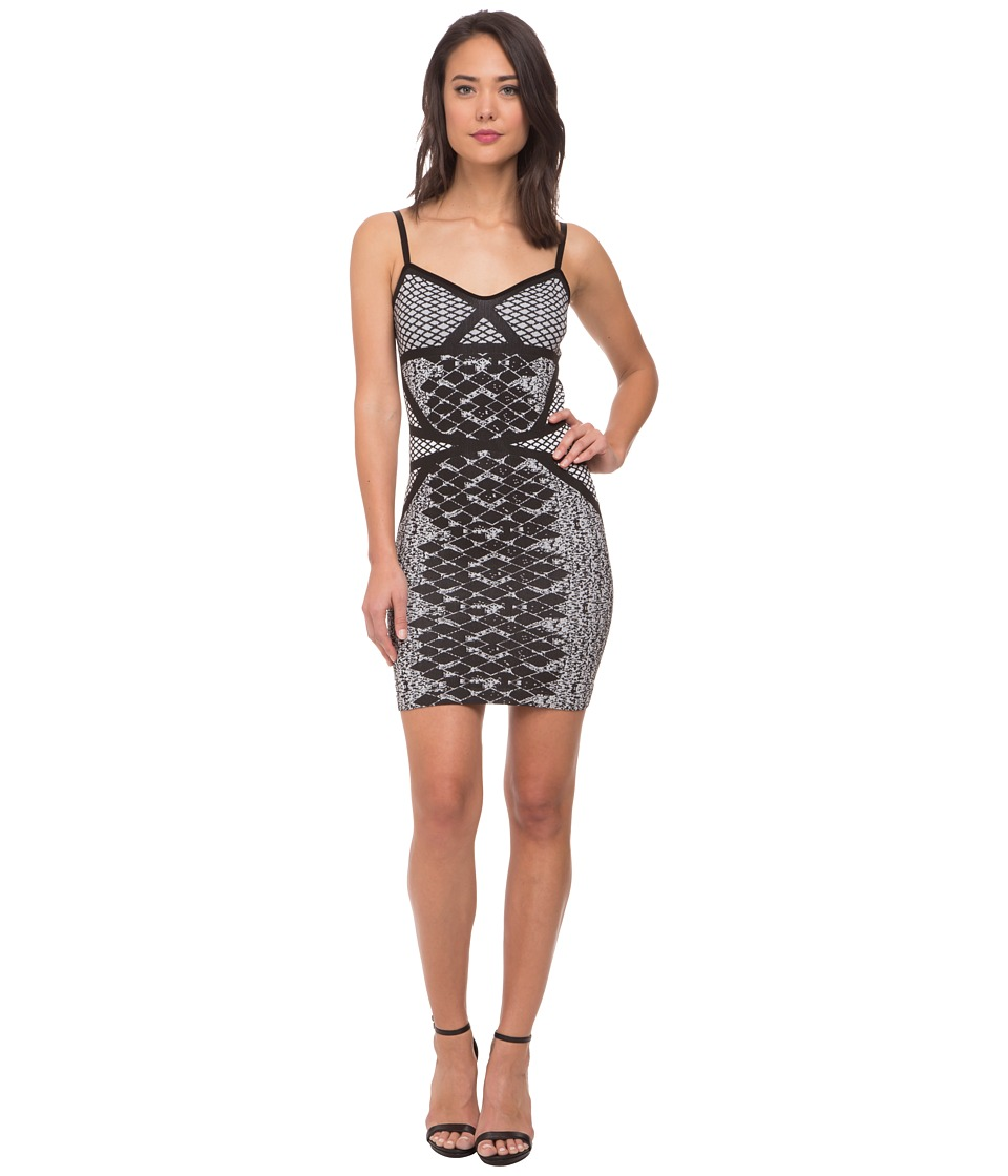 Whitney Eve - Miracle Leaf Dress (Black/White) Women's Dress