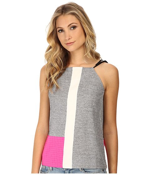 Whitney Eve - Sugar Cane Top (Grey/White/Hot Pink) Women's Clothing