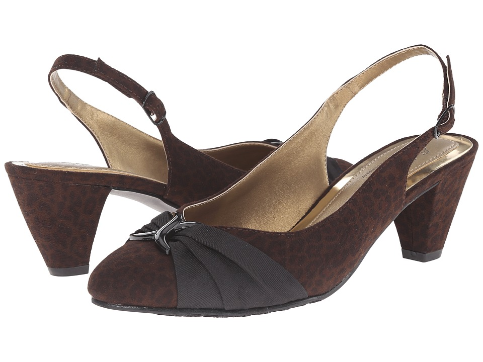 Soft Style - Dezarae (Dark Brown Leopard Faux Suede) High Heels