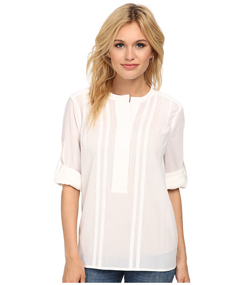 BCBGMAXAZRIA - Mirte Long Sleeve Shirt with Pintucks (White) Women