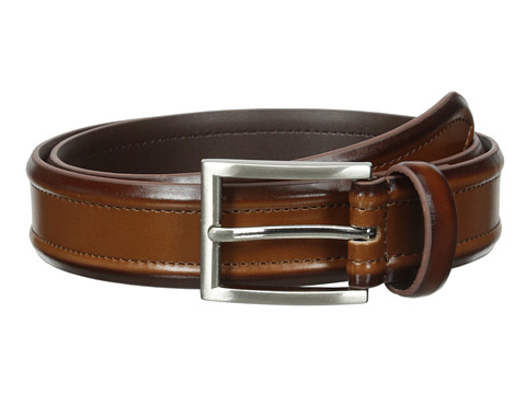 Florsheim - Dress Casual Burnished Leather Belt 32mm (Cognac) Men