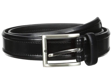 Florsheim - Dress Casual Burnished Leather Belt 32mm (Black) Men's Belts