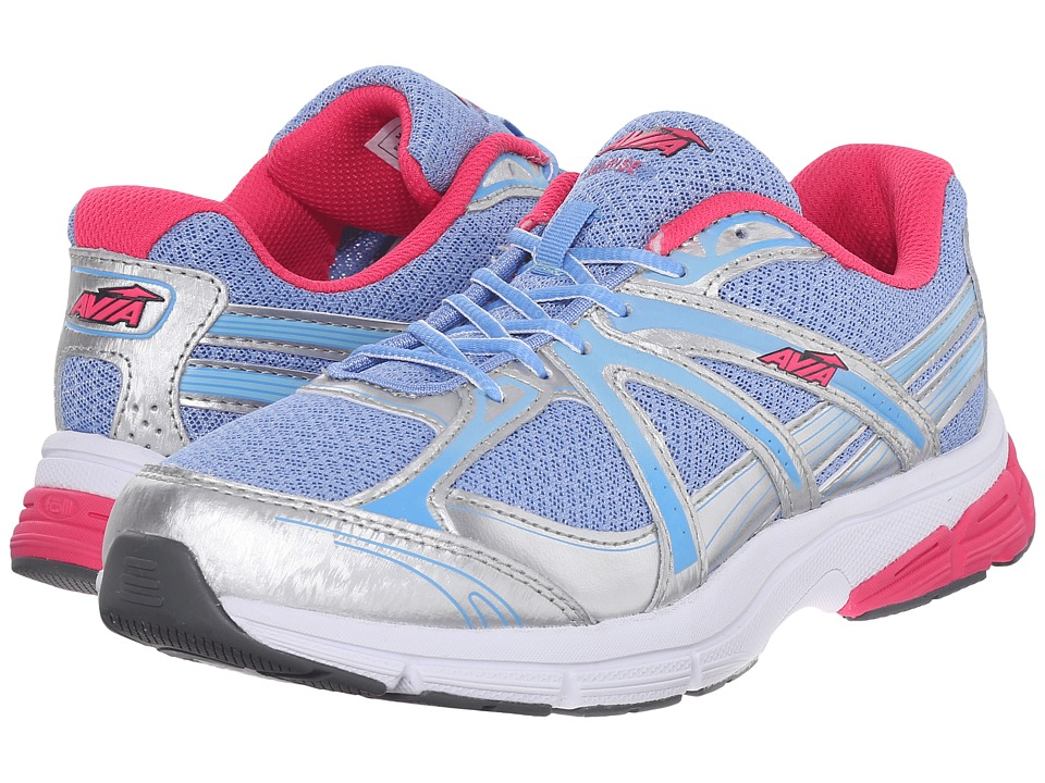 Avia Avi-Rise (Chrome Silver/Elite Blue/Geranium Pink) Women