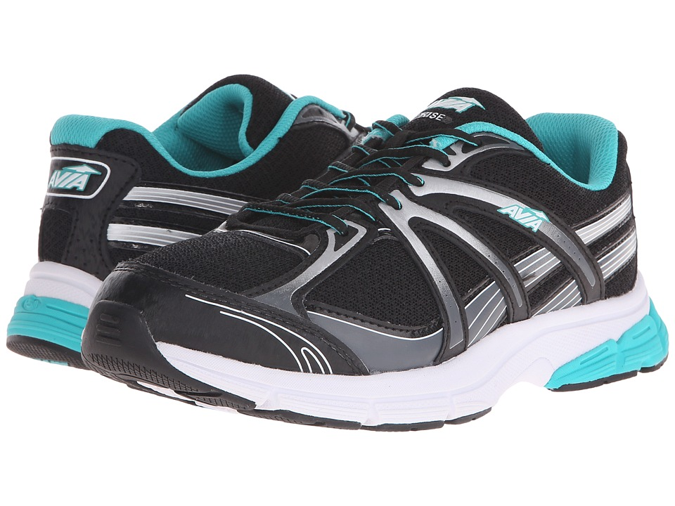 Avia - Avi-Rise (Black/Teal Blast/Chrome Silver) Women's Shoes
