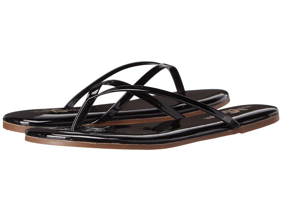 Yosi Samra - Roee Flip Flop (Black Patent) Women's Sandals
