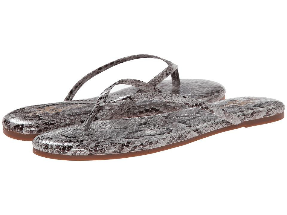 Yosi Samra Roee Snake Leather Flip Flop (Smoke) Women
