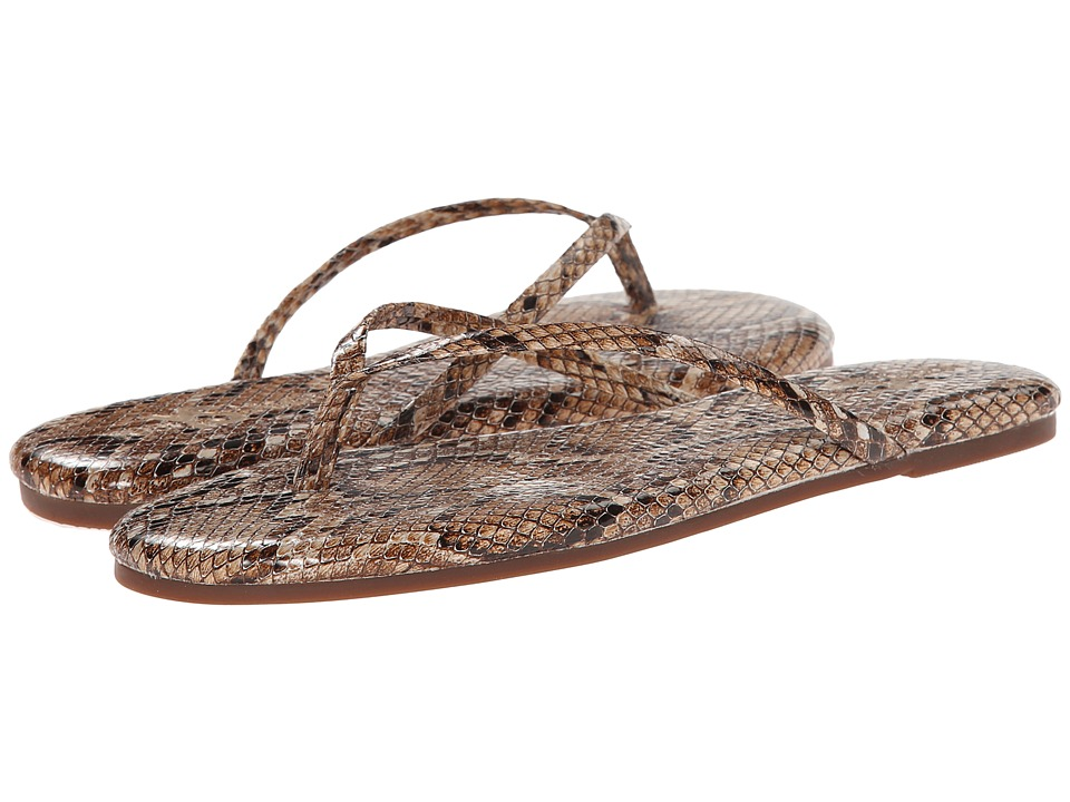 Yosi Samra - Roee Snake Leather Flip Flop (Natural) Women's Sandals