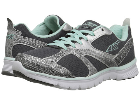 Avia - Cube (Steel Grey/Chrome Silver/Sea Green) Women's Shoes