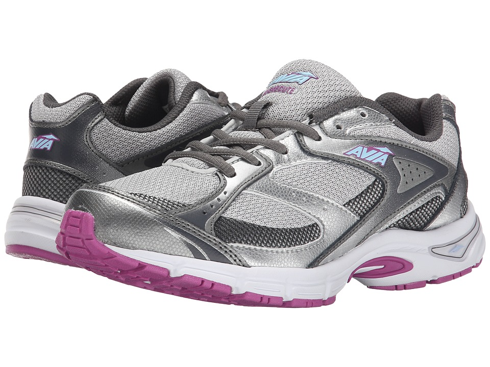 Avia Avi-Execute (Steel Grey/Chrome Silver/Spring Orchid/Skyway Blue/Iron Grey) Women