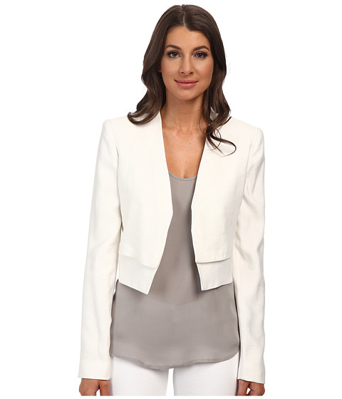 BCBGMAXAZRIA - Corey Open Front Jacket (Off White) Women's Coat