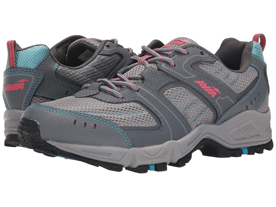 Avia Avi-Dell (Frost Grey/Iron Grey/Teal Falls/Geranium Pink) Women