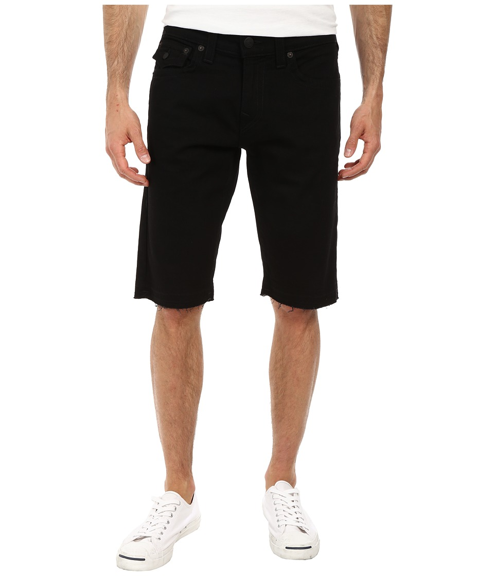 True Religion - Ricky w/ Flap Cut Off Shorts (Midnight Black) Men's Shorts