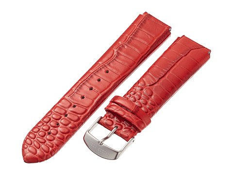 Philip Stein - 20mm Lizard Print Patent Strap (Red) Watches
