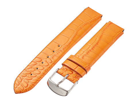Philip Stein - 18mm Lizard Print Patent Strap (Orange) Watches