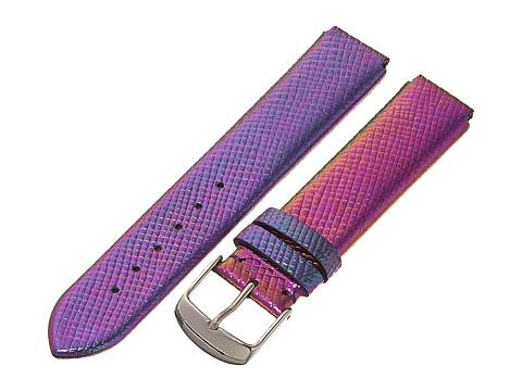 Philip Stein - 18mm Iridescent Calf Strap (Purple) Watches