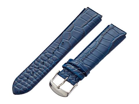 Philip Stein - 20mm Lizard Print Patent Strap (Blue) Watches