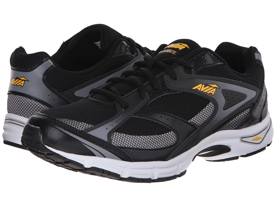 Avia - Avi-Execute (Black/Frost Grey/Vibrant Yellow) Men's Shoes