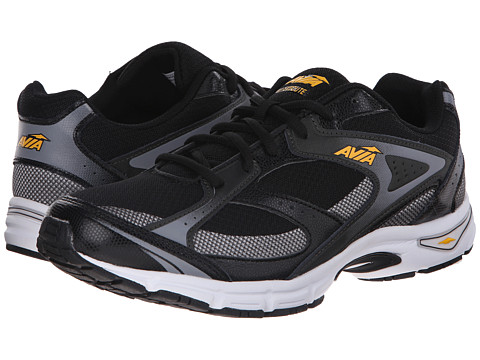 Avia - Execute (Black/Frost Grey/Vibrant Yellow) Men's Shoes