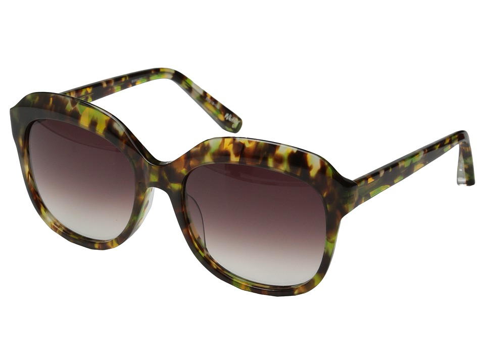 Elizabeth and James - Whitley (Shiny Brown Green Ink/Brown Grad Lens) Fashion Sunglasses