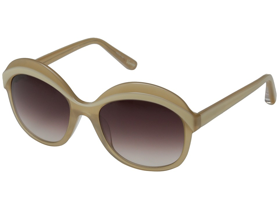 Elizabeth and James - Verona (Shiny Pearl Gold Crystal Brown Lamination/Brown Grad Lens) Fashion Sunglasses
