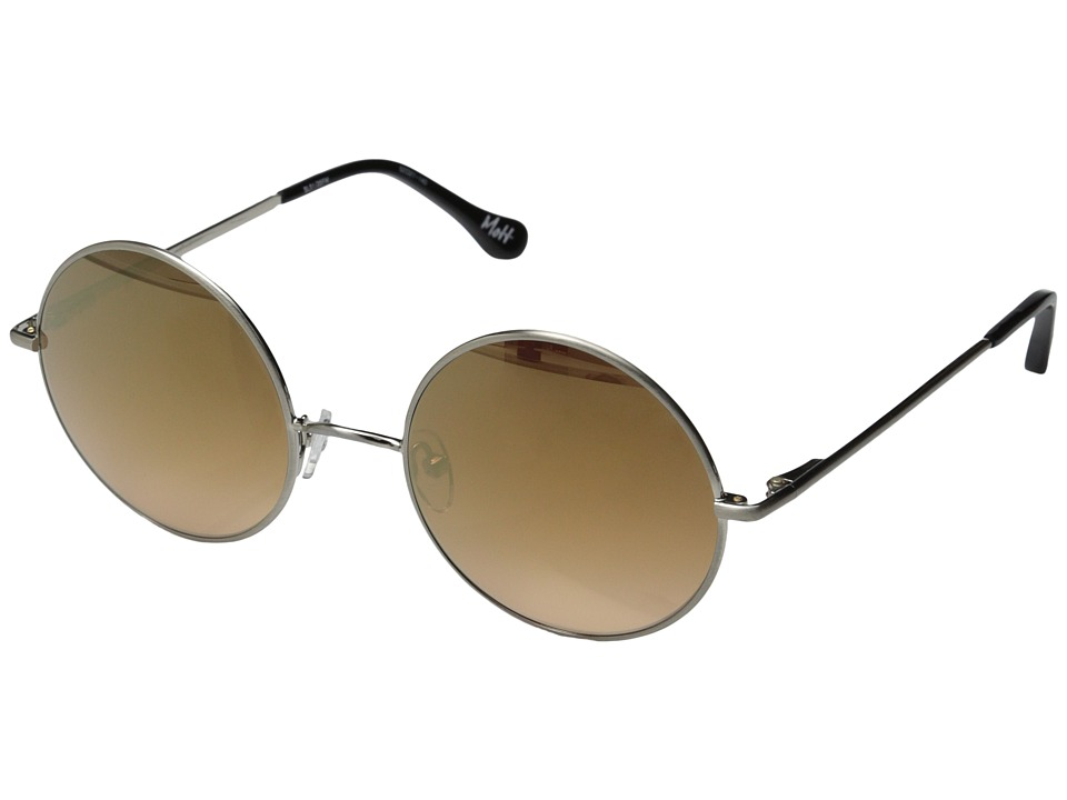 Elizabeth and James - Mott (Brushed Silver/Smoke Pink Ocean/Gold Flash Lens) Fashion Sunglasses