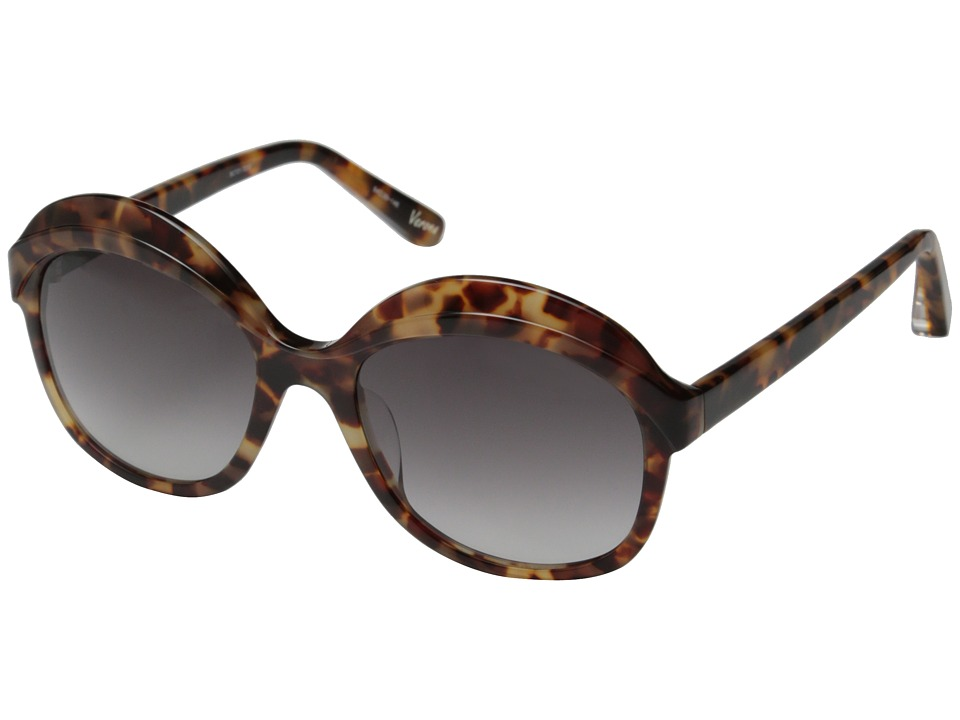 Elizabeth and James - Verona (Shiny Brown Cream Tort/Smoke Grad Lens) Fashion Sunglasses