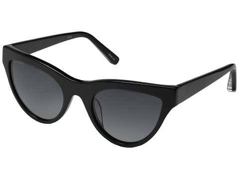 Elizabeth and James - Clarkson (Shiny Black/Smoke Grad Polarized Lens) Fashion Sunglasses