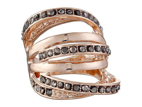GUESS - Orbital Band Ring w/ Stones (Rose Gold/Hematite) Ring