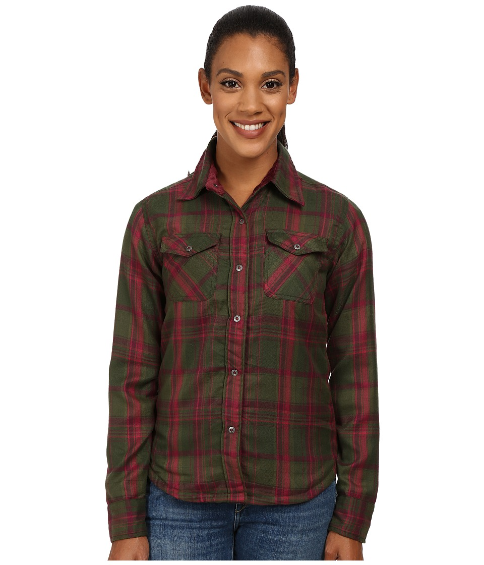 Mountain Khakis - Christi Fleece Lined Shirt (Rainforest) Women's Fleece