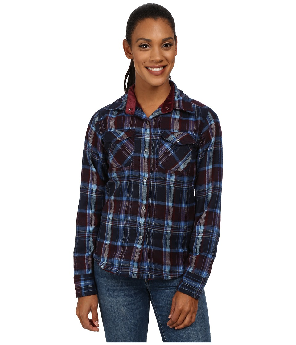 Mountain Khakis - Christi Fleece Lined Shirt (Navy) Women's Fleece