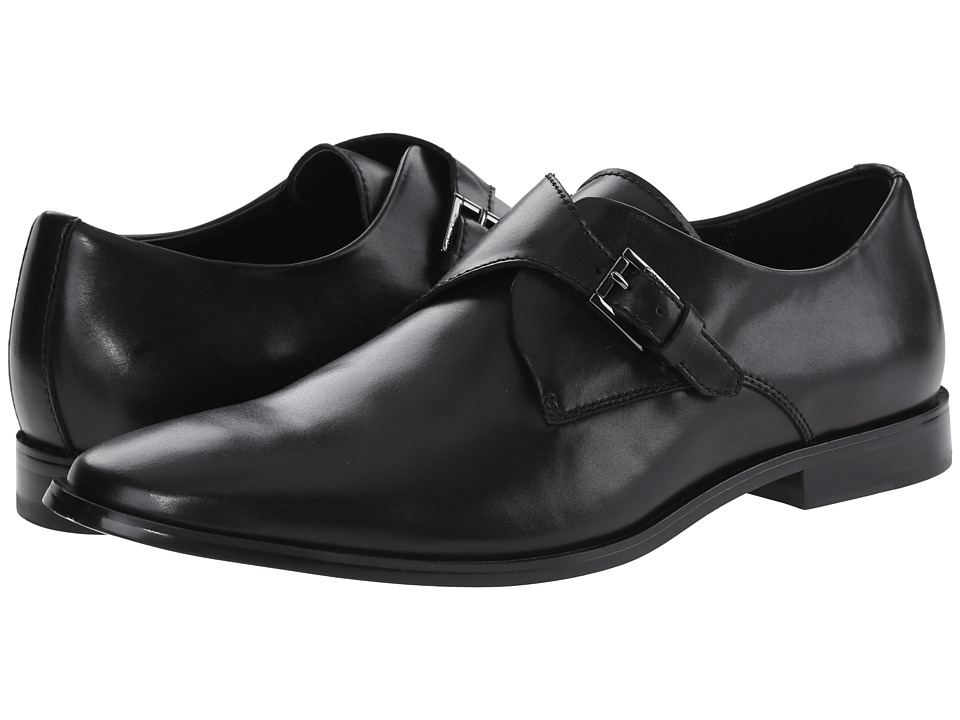Calvin Klein - Norm (Black Leather) Men's Slip-on Dress Shoes