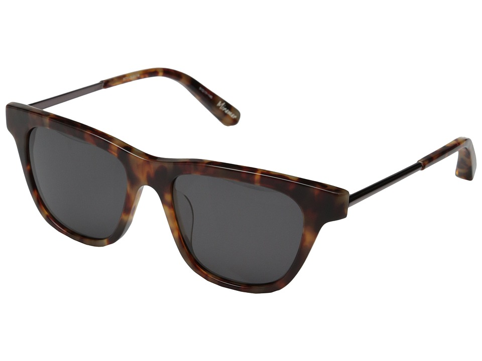 Elizabeth and James - Miramar (Shiny Brown Cream Tort/Burgundy Metal/Black Mono Lens) Fashion Sunglasses