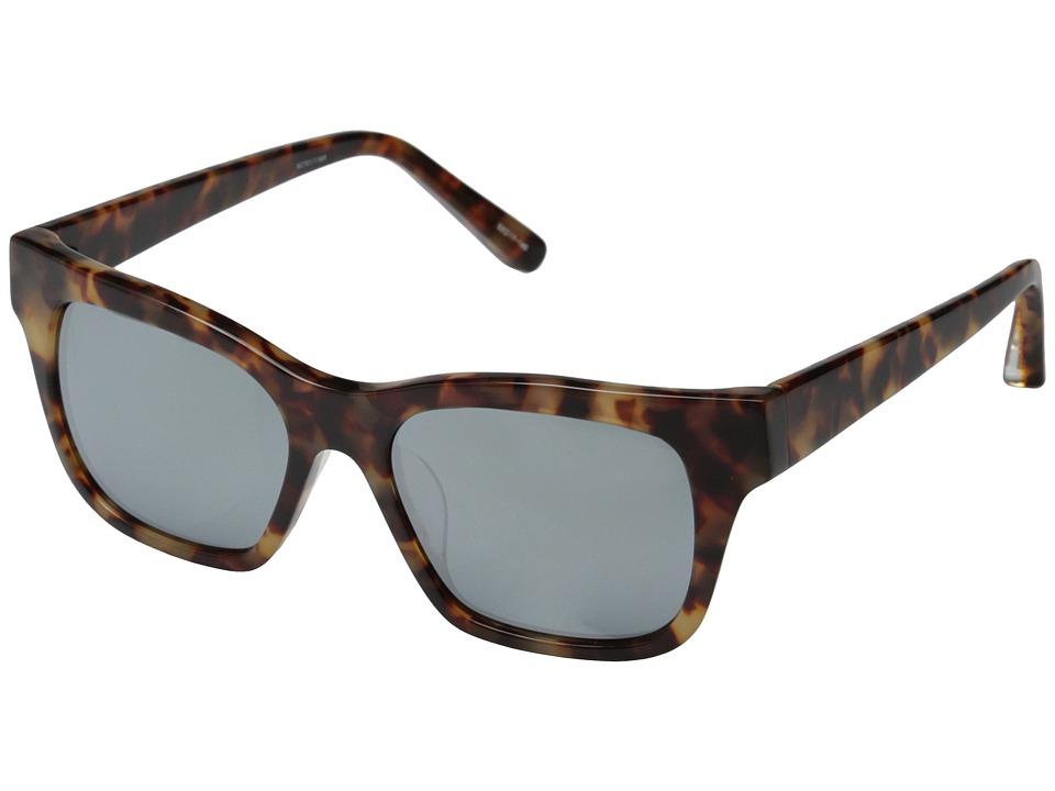 Elizabeth and James - Stockton (Shiny Brown Cream Tort/Smoke Mono/Silver Mirror Lens) Fashion Sunglasses