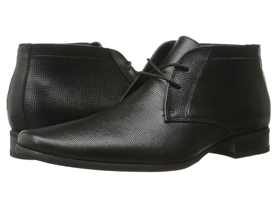 Calvin Klein - Ballard (Black Epi Leather) Men's Shoes