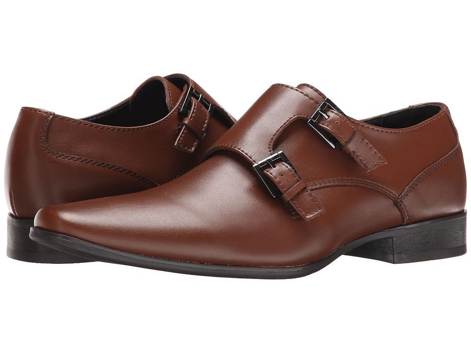 Calvin Klein - Bayard (British Tan Leather) Men's Slip on Shoes