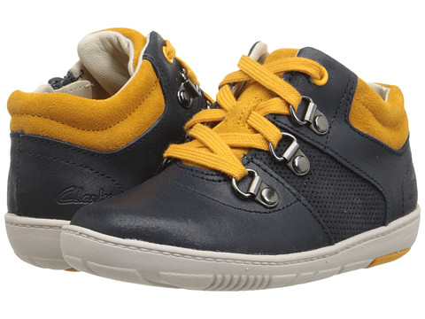 Clarks Kids - Maxi Square (Toddler) (Navy) Boy's Shoes