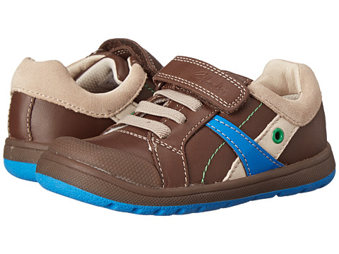 Clarks Kids - Maltby Pow (Toddler/Little Kid) (Brown) Boy's Shoes