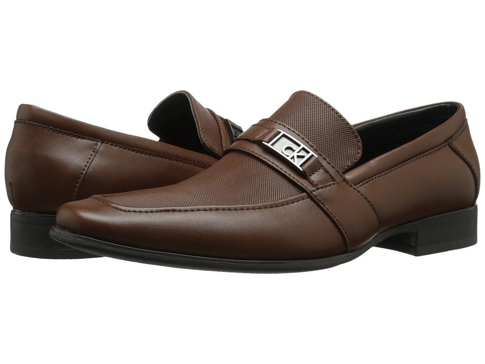 Calvin Klein - Bartley (British Tan Diamond Leather) Men's Shoes