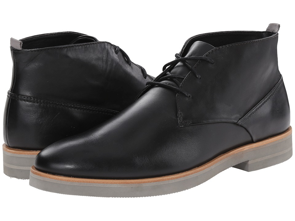 Calvin Klein - Walter (Black Leather) Men's Lace-up Boots