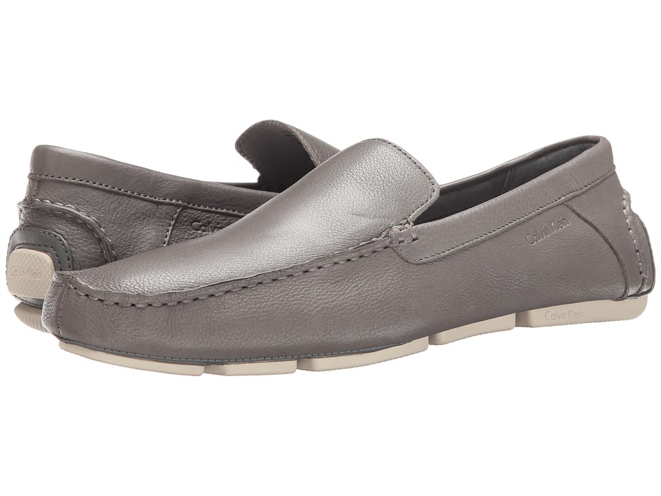 Calvin Klein - Miguel (Grey Waxy Leather) Men's Shoes