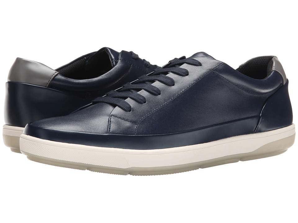 Calvin Klein - Ward (Indigo Leather/Box Smooth) Men's Lace up casual Shoes