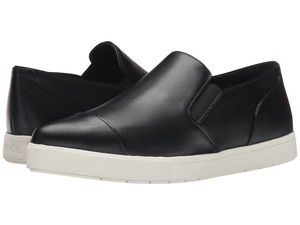 Vince - Paeyre (Black Macho Calf Light/Low Shine Abrasivato) Women's Slip on Shoes