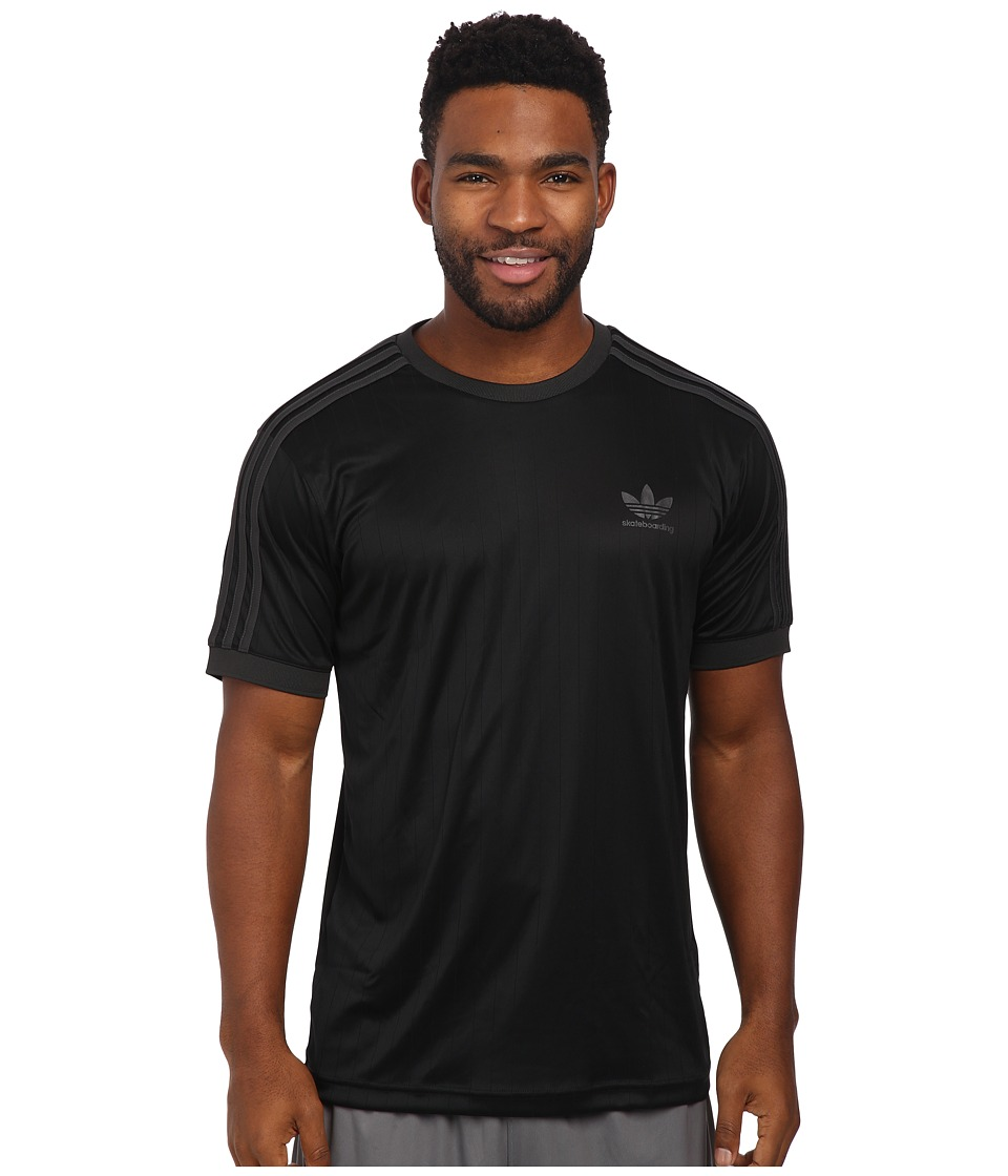 adidas Skateboarding - ADV Club Jersey (Black/Carbon) Men's Clothing