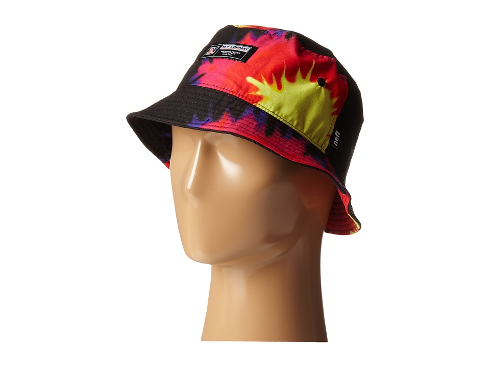 Neff - Tie-Dye Bucket Hat (Black) Bucket Caps