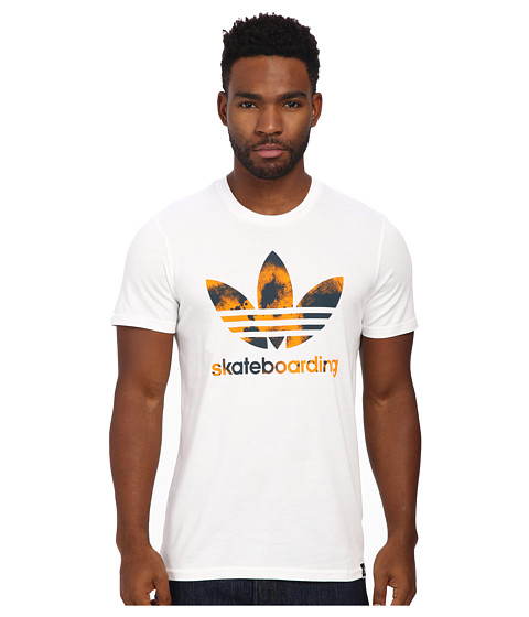 adidas Skateboarding - ADV Color Blast Tee (White) Men