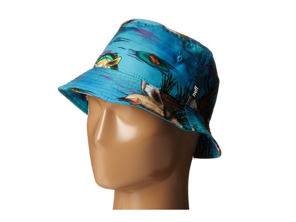 Neff - Swamp Life Trucker (Blue) Caps