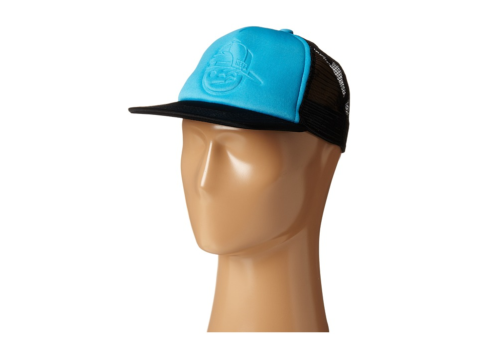 Neff - Kenni Foam Trucker (Cyan/Black) Caps